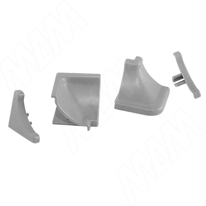 Аксессуары для треугольного вогнутого плинтуса 50.300R.MR, серый (09.550R.GR) аксессуары для треугольного плинтуса белый 09 565 bi