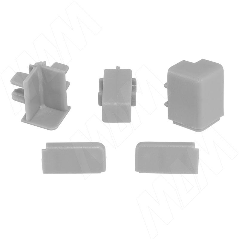 Аксессуары для прямоугольного вертикального плинтуса 62.300, серый (09.562R.GR) аксессуары для плинтуса 61 500al серый 09 561 ga