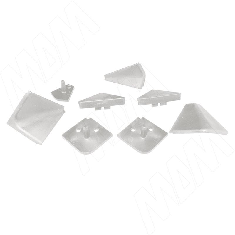 Аксессуары для треугольного плинтуса, белый (09.565.BI) аксессуары для треугольного плинтуса 32 01r черный 09 532r nr