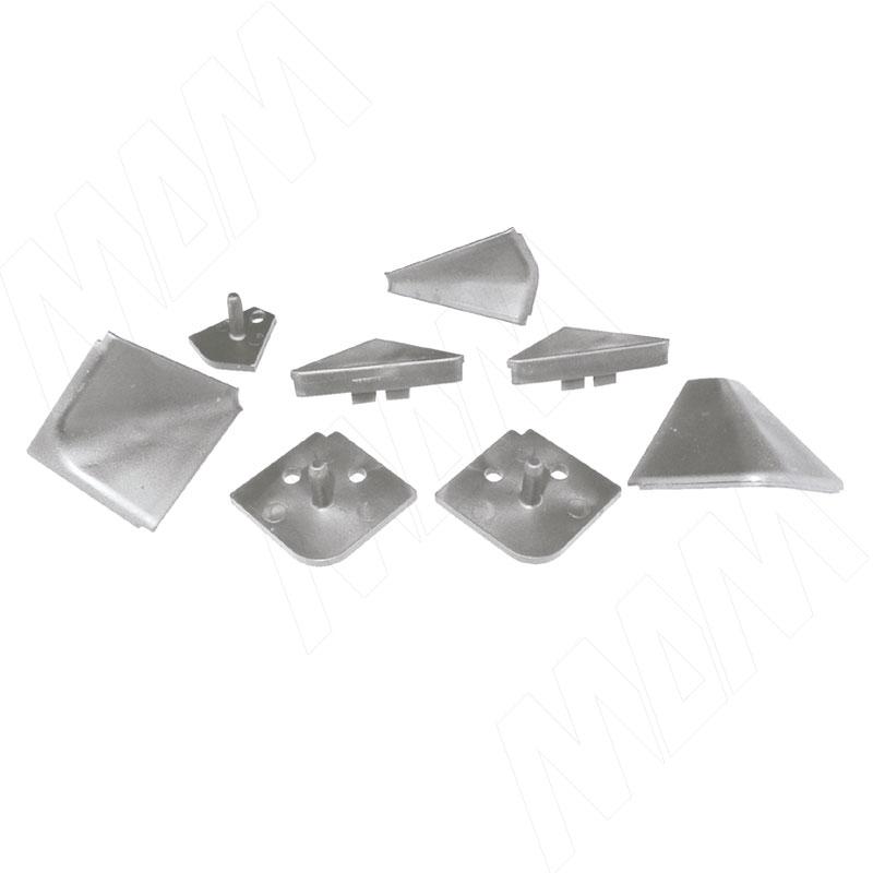 Аксессуары для треугольного плинтуса, серый (09.565.GR) аксессуары для треугольного плинтуса 32 01r черный 09 532r nr