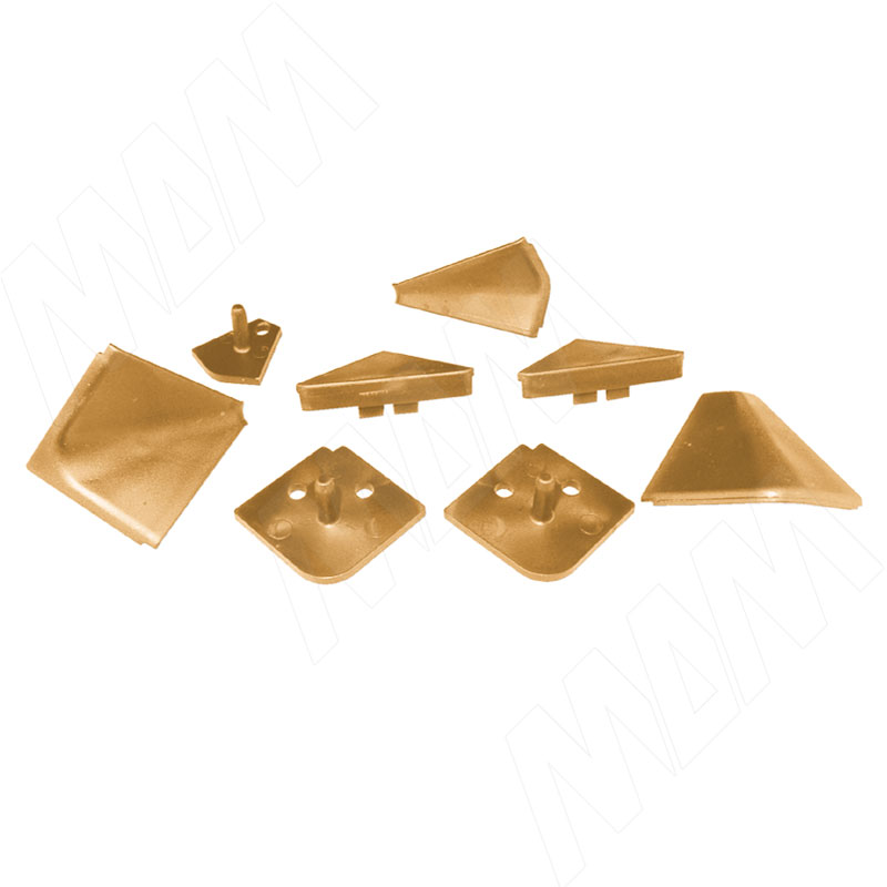 Аксессуары для треугольного плинтуса, коричневый (09.565.RC) аксессуары для треугольного плинтуса 32 01r черный 09 532r nr