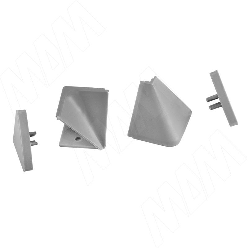 Аксессуары для треугольного плинтуса, серый (09.566.GR) аксессуары для треугольного плинтуса 32 01r черный 09 532r nr