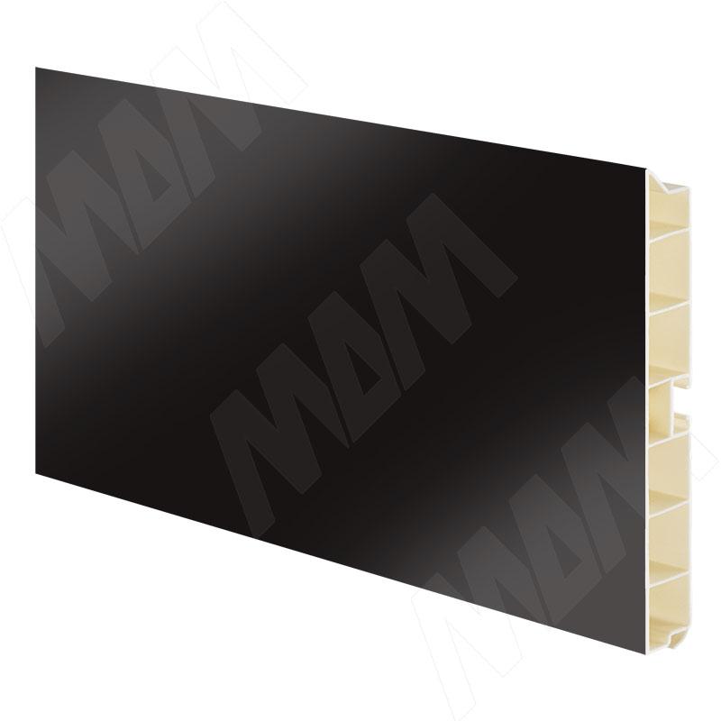 Цоколь пластиковый (высота 100, длина 4000 мм), черный глянец (10.0330 4M) цоколь пластиковый высота 100 длина 4000 мм орех 10 1365 4m