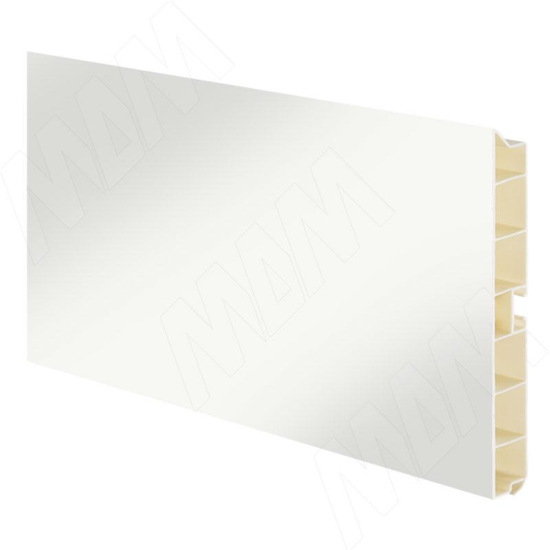 Цоколь пластиковый (высота 100, длина 4000 мм), белый глянец (10.0418 4M) цоколь пластиковый высота 100 длина 4000 мм орех 10 1365 4m