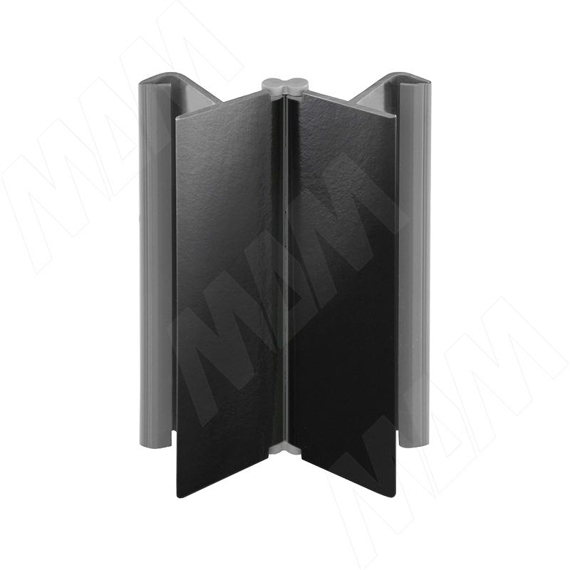 Фото - Мультиуголок (высота 150), черный глянец (19.0330.55) мультиуголок алюминиевый высота 150 алюминий глянцевый 0955 al 01