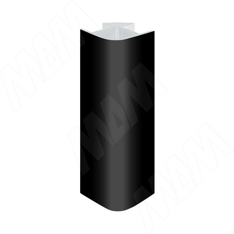 Уголок 90 градусов универсальный (высота 100), черный глянец (19.0331R.10)