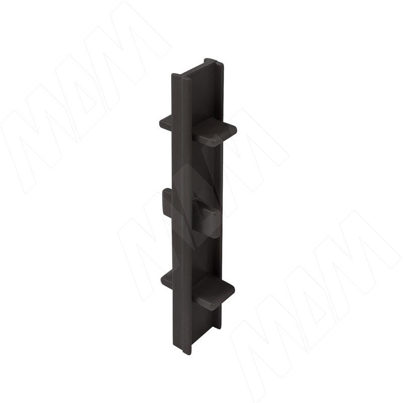 Соединитель 180 градусов (высота 100), черный (19.0422R.20)
