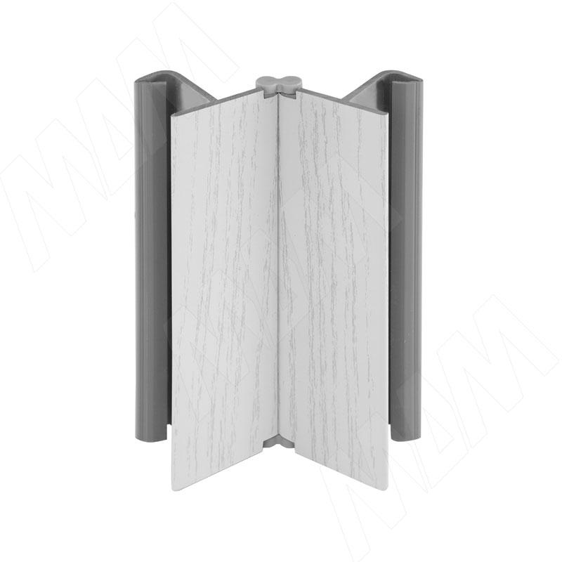 Фото - Мультиуголок (высота 150), декапе белый (19.0431.55) мультиуголок алюминиевый высота 150 алюминий глянцевый 0955 al 01