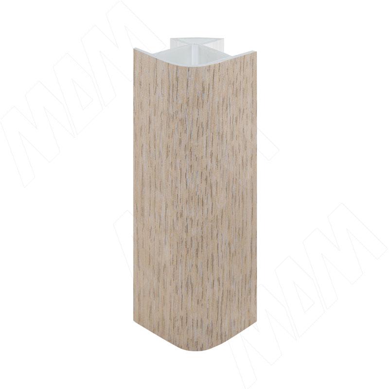 Уголок 90 градусов универсальный (высота 100), дуб беленый (19.1303R.10)