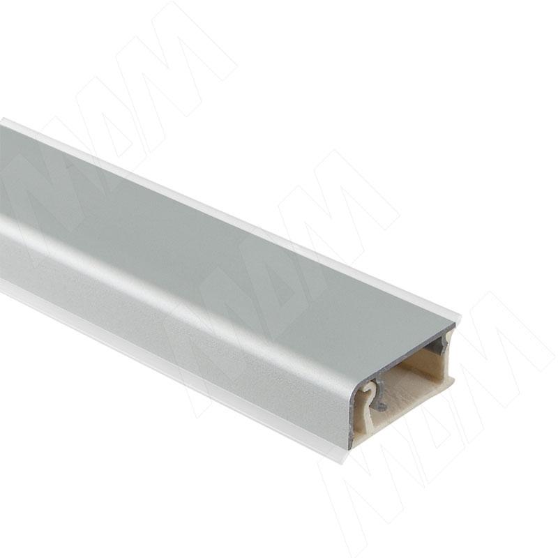 Плинтус алюминиевый прямоугольный универсальный (гориз./верт.) L=4,2м, серебро (62.0000.TR 4,2M) плинтус алюминиевый треугольный l 4м серебро 65 400al
