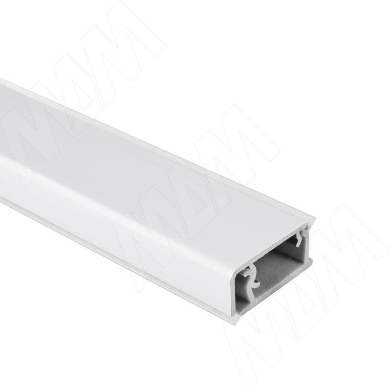 цена на Плинтус алюминиевый прямоугольный горизонтальный L=4,2м, белый матовый (62.0054.TR 4,2M)