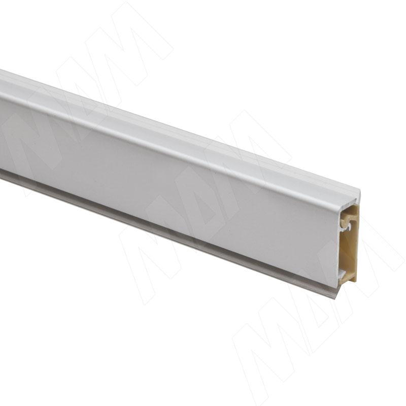 Плинтус алюминиевый прямоугольный универсальный (гориз./верт.) L=3м, серебро (62.300RAL 3M)