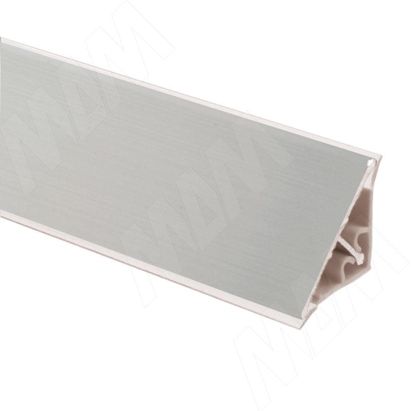 Плинтус алюминиевый треугольный L=4м, серебро (65.400AL)