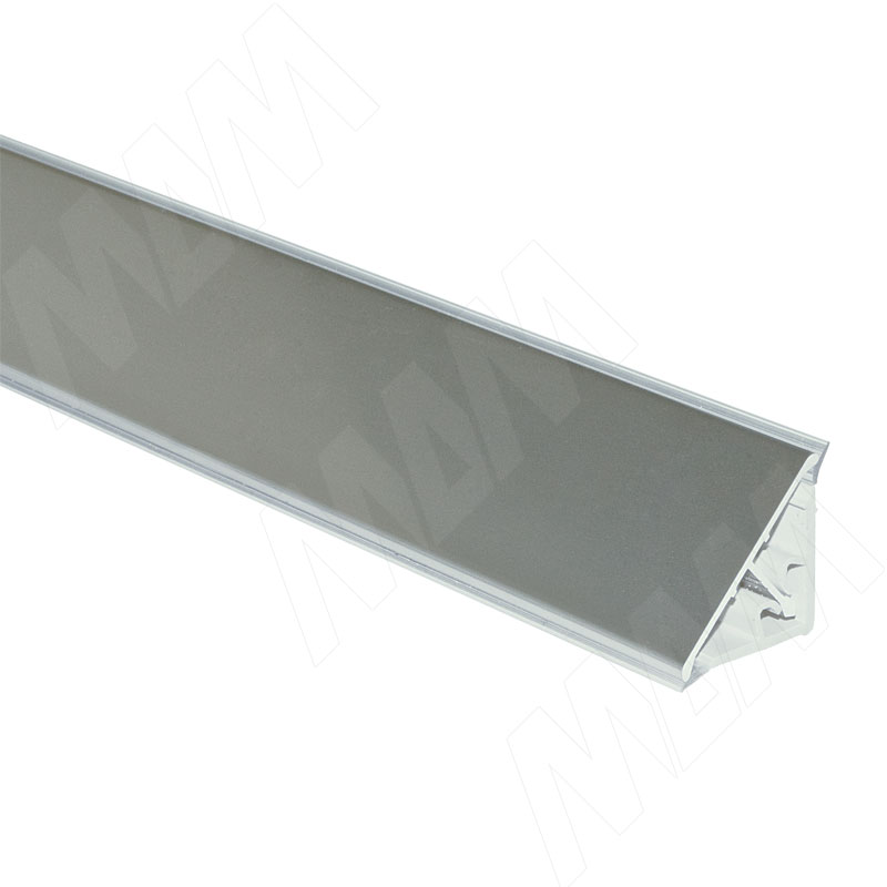 Плинтус алюминиевый треугольный L=4м, нержавеющая сталь (65.400SA) плинтус алюминиевый треугольный l 4м серебро 65 400al