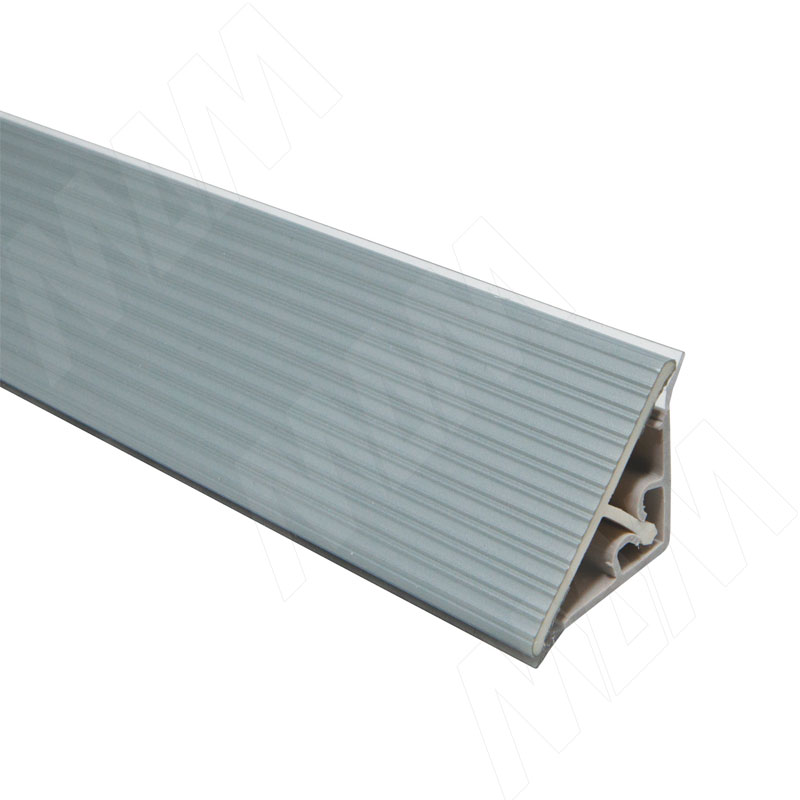 Плинтус пластиковый треугольный L=4м,  Pimiller (66.0100.TR 4M) плинтус алюминиевый треугольный l 4м серебро 65 400al