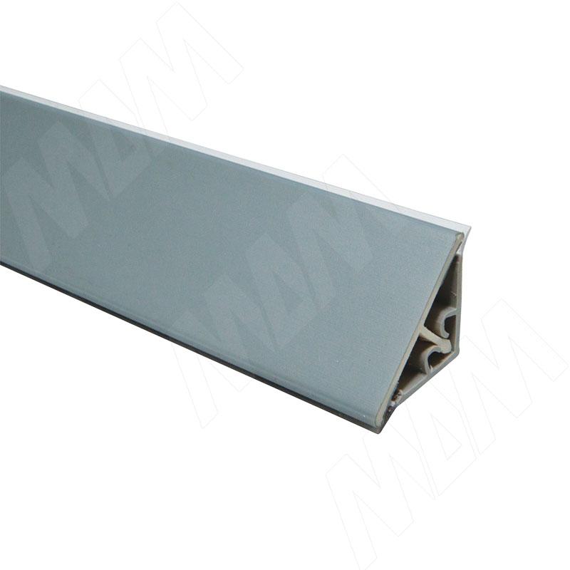 Плинтус пластиковый треугольный L=4м, Alulight (66.0101.TR 4M) плинтус алюминиевый треугольный l 4м серебро 65 400al