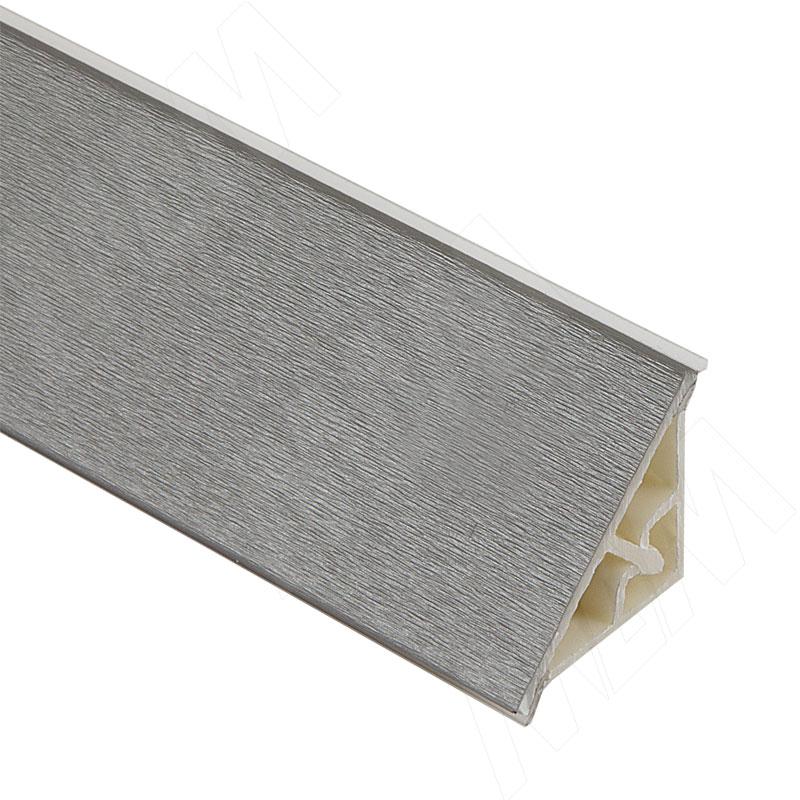 Плинтус пластиковый треугольный L=3м, серебро (66.300R.AL) плинтус алюминиевый треугольный l 4м серебро 65 400al