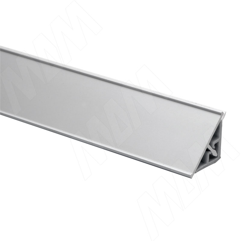 цена на Плинтус алюминиевый треугольный L=3м, серебро (67.300R.AL)