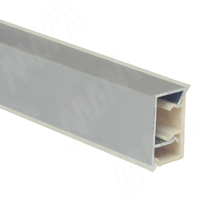 Плинтус алюминиевый прямоугольный вертикальный L=4,2м, серебро (70.00AL07 4,2M) плинтус алюминиевый треугольный l 4м серебро 65 400al