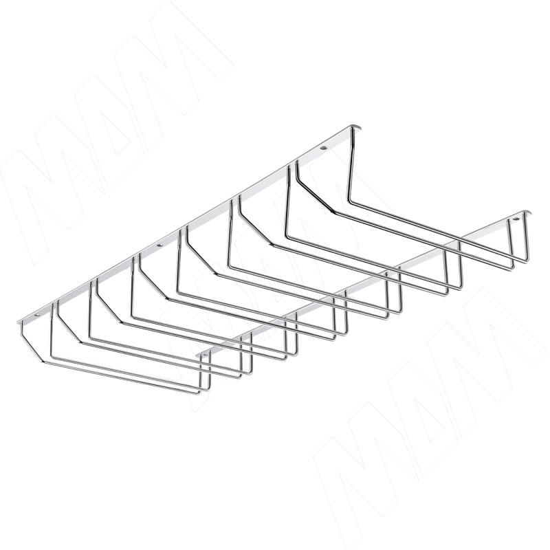 Секция из 7-ми бокалодержателей, крепл. на саморезы, хром (BJ007-300 01) внутренняя секция трия ривьера тд 241 07 02 02 секция внутренняя