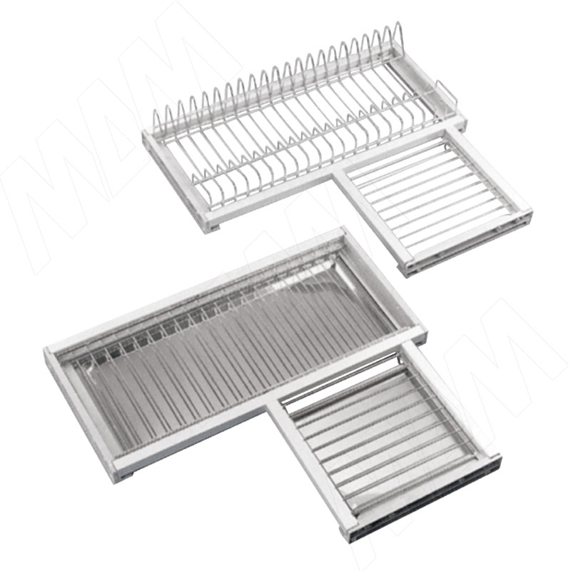ROUND Комплект посудосушителей для углового шкафа 600х600 мм, хром (CMA60CPVA) ремонтный комплект thorvik rks10410 углового редуктора ушм aag0410