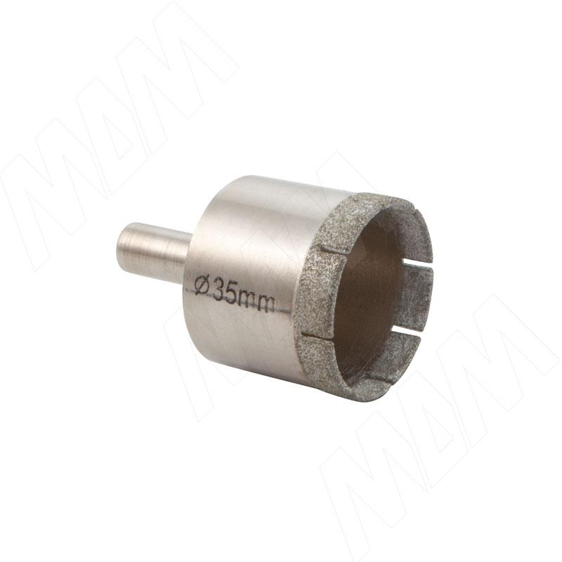 Сверло для стекла D35 мм (ECODG35)