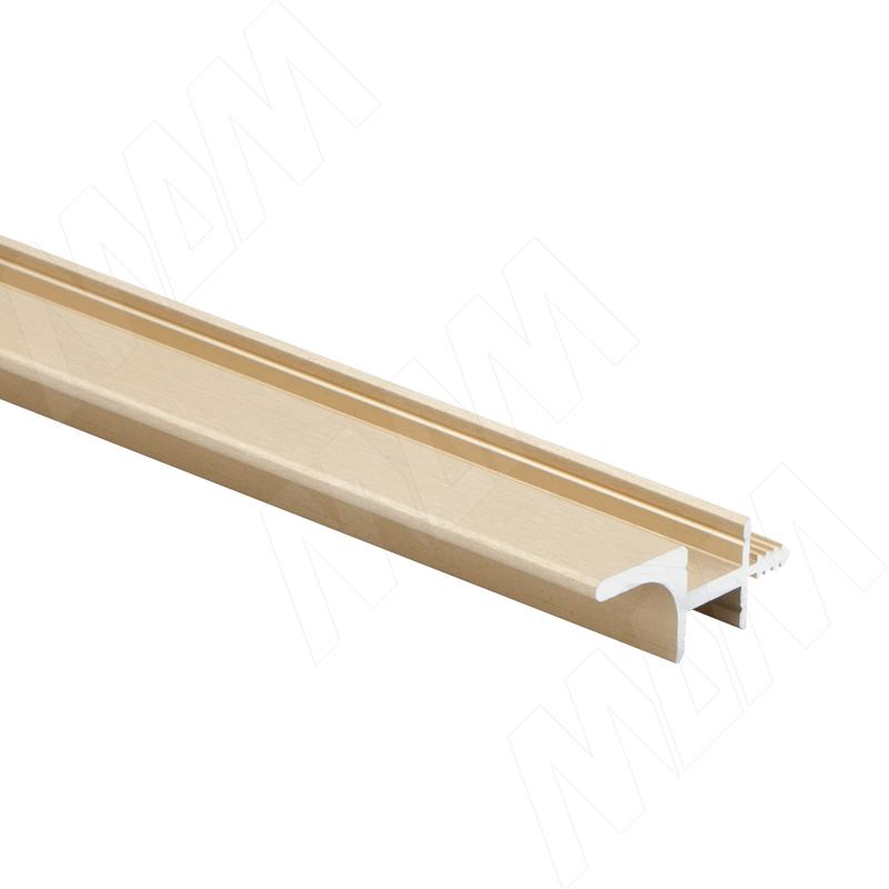 GOLIGHT Профиль-ручка для верхней базы, под две светодиодные ленты, золото брашированное, L-2000 (GL3.153A.2000.GLB PR) 0 pr на 100