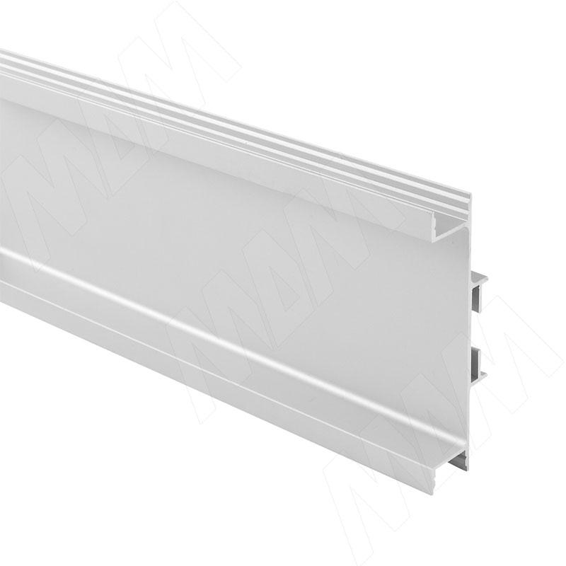 GOLIGHT Универсальная профиль-ручка для среднего ящика, под светодиодную ленту, алюминий матовый, L-4100мм (GL3.3565.4100.7F PR) 0 pr на 100