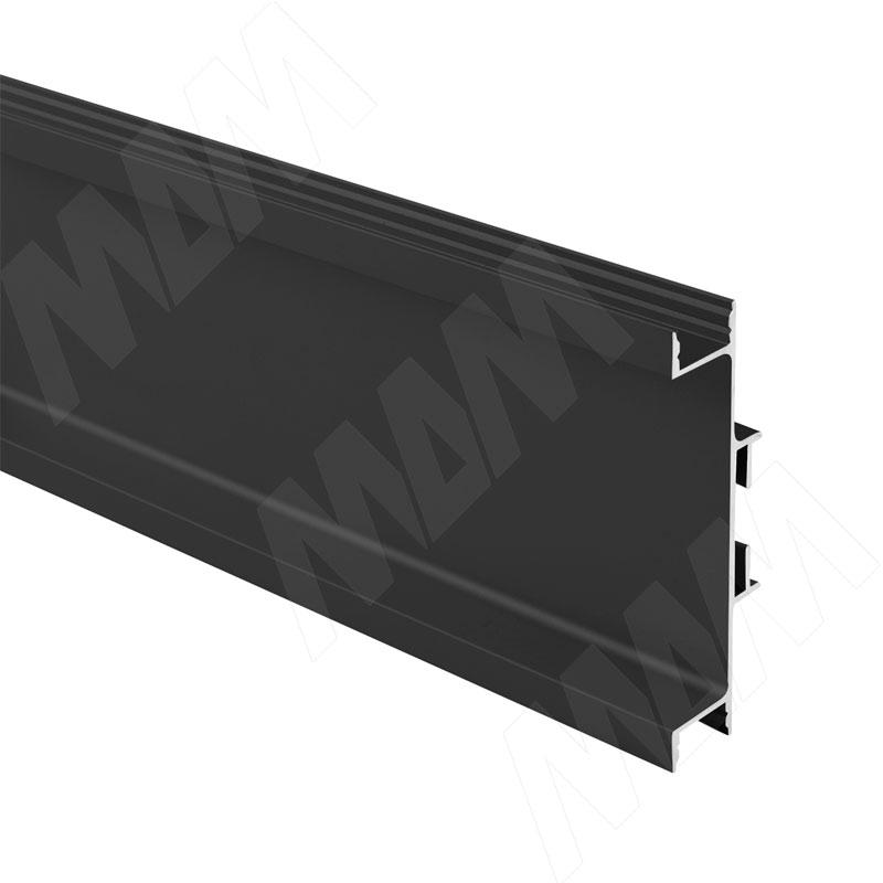 GOLIGHT Универсальная профиль-ручка для среднего ящика, под светодиодную ленту, черный матовый, L-4100мм (GL3.3565.4100.7W PR) 0 pr на 100