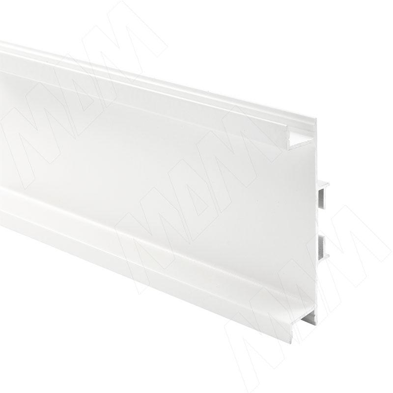 GOLIGHT Универсальная профиль-ручка для среднего ящика, под светодиодную ленту, белый, L-4100мм (GL3.3565.4100.WH PR) мебель для ванной эстет dallas luxe l 140 три ящика белый