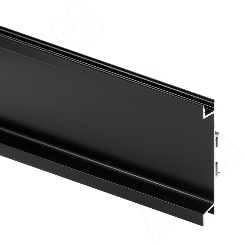 GOLIGHT Универсальная профиль-ручка для среднего ящика, под светодиодную ленту, черный матовый (краска), L-4100мм (GL3.3565.4100.BLM PR) 0 pr на 100