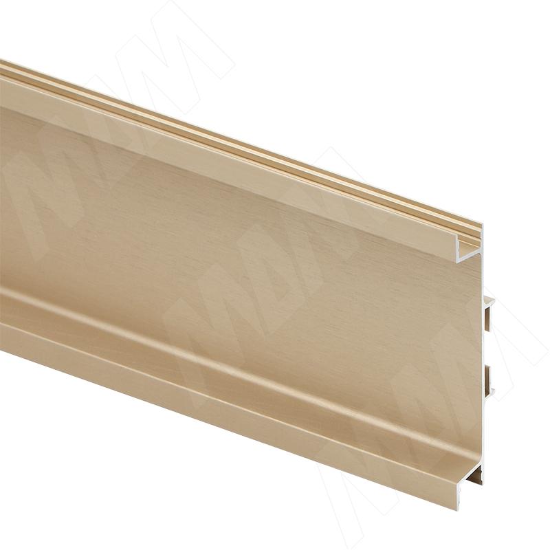 GOLIGHT Универсальная профиль-ручка для среднего ящика, под светодиодную ленту, золото брашированное, L-4100мм (GL3.3565.4100.GLB PR) 0 pr на 100
