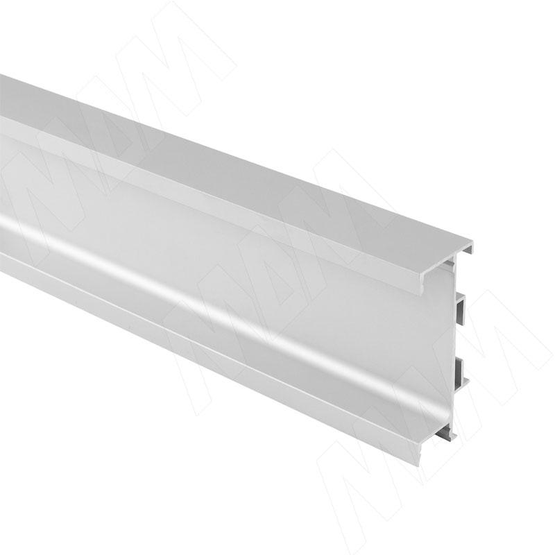 GOLIGHT Универсальная профиль-ручка под столешницу, под светодиодную ленту, алюминий матовый, L-4050мм (GL3.3566.4050.7F PR)