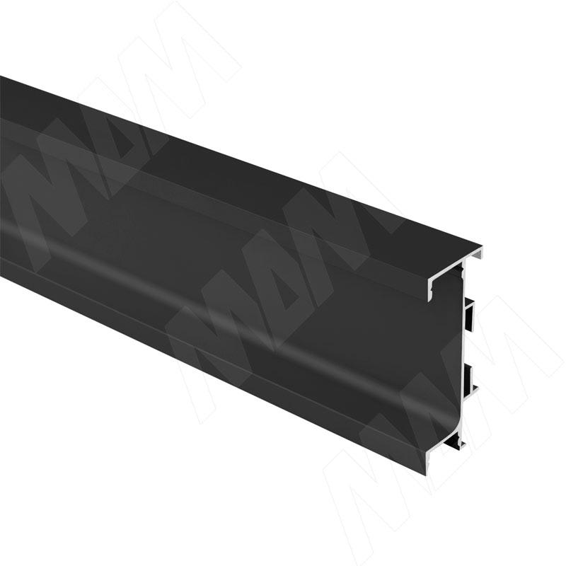 GOLIGHT Универсальная профиль-ручка под столешницу, под светодиодную ленту, черный матовый, L-4100мм (GL3.3566.4100.7W PR)