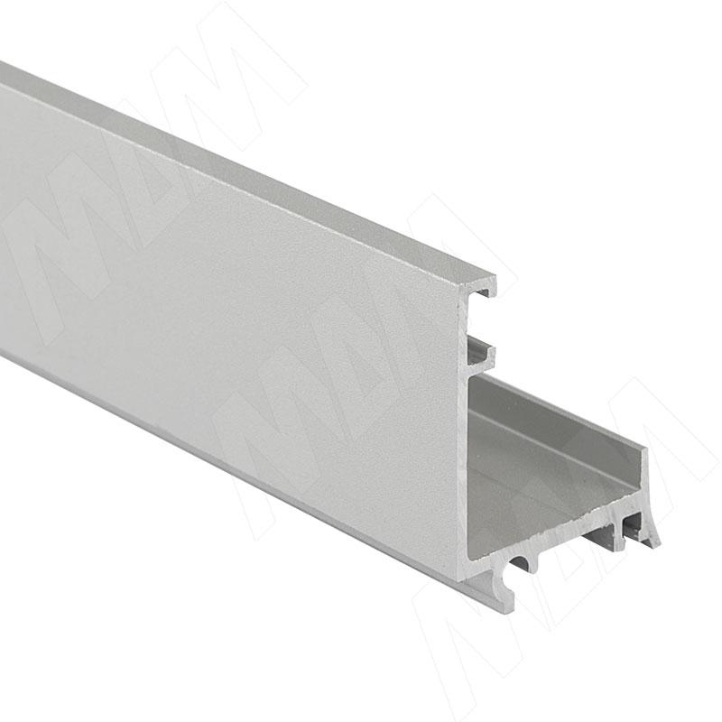 Профиль для фартука нижний L=4,1м, серебро (SK0103A)