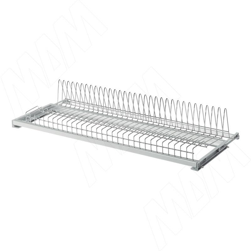 ROUND Посудосушитель для тарелок с гладкой рамкой и держателем задней стенки, 800 мм, хром (SV80VR16CP)
