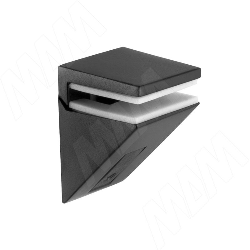 KALABRONE MINI Менсолодержатель для стеклянных полок 5 - 10 мм, черный матовый (1 62200 80 EC-1) автомобильный держатель perfeo ph 521 до 6 5 на стекло торпедо черный
