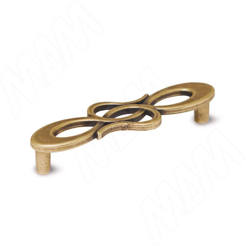 Ручка-скоба 96мм бронза состаренная (1021.96.23)