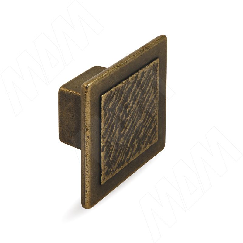 Ручка-кнопка 16мм бронза состаренная (2032.16.23)