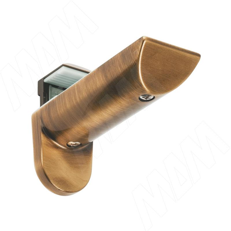 KAIMAN Менсолодержатель для деревянных и стеклянных полок 7 - 41 мм, бронза состаренная (2 шт.) (7033 54) kaiman менсолодержатель для деревянных и стеклянных полок 7 41 мм хром матовый 2 шт 7033 50