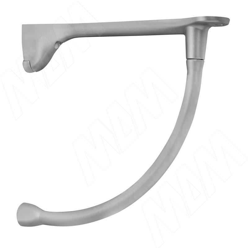Менсолодержатель для деревянных полок L-230 мм, хром матовый (2 шт.) (AZ.095.AP) kaiman менсолодержатель для деревянных и стеклянных полок 7 41 мм хром матовый 2 шт 7033 50