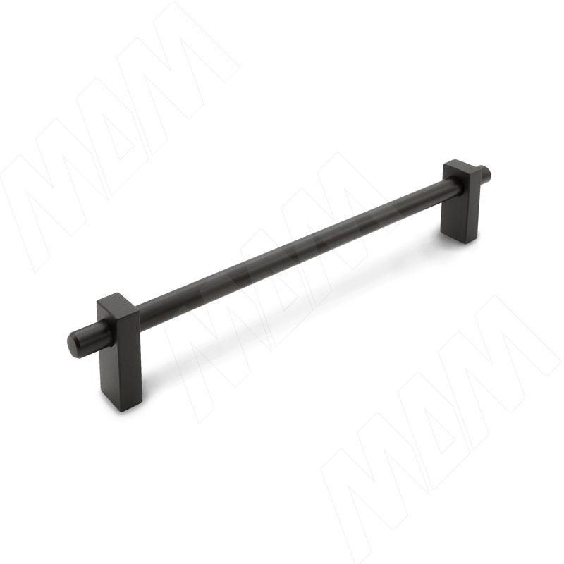 CILINDRA Ручка-скоба 160мм черный матовый (CLD.160.BL) ручка раковина 160мм крепление саморезами черный матовый sh ru2 160 bl