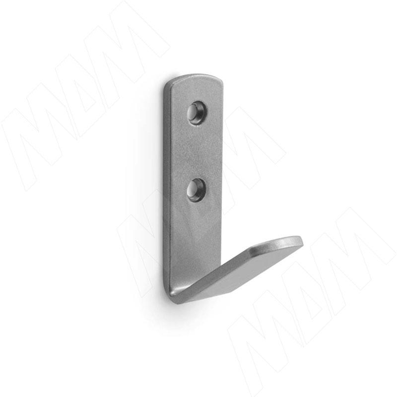 Крючок однорожковый хром матовый фото товара 1 - HK.19.SC