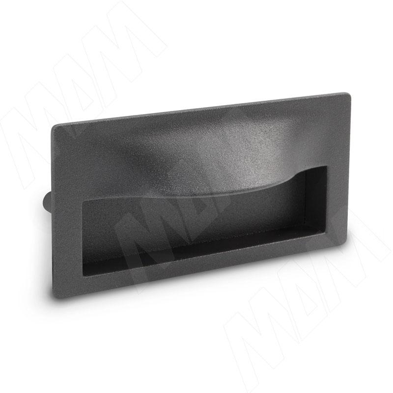 FUENTE Ручка-раковина 96мм графит структурный (MD15.096.LPS01) ручка раковина 96мм титан 405c 96 69