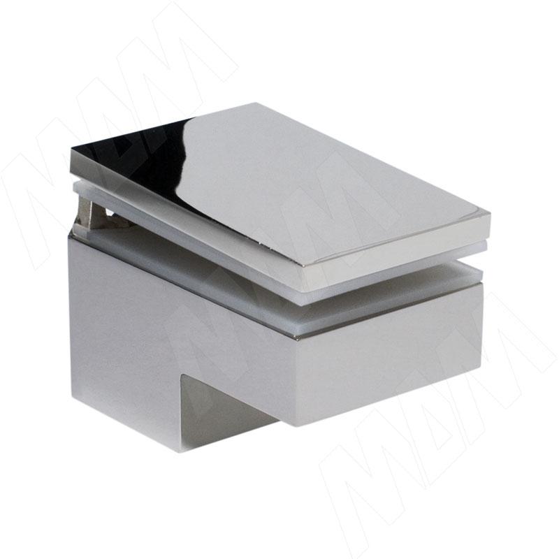 Менсолодержатель 40Х60 мм для деревянных и стеклянных полок 6 -25 мм, хром (2 шт.) (MS.1437.NL) kaiman менсолодержатель для деревянных и стеклянных полок 7 41 мм хром матовый 2 шт 7033 50