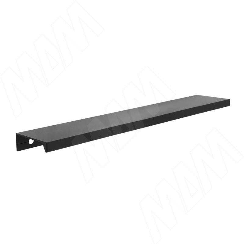 Профиль-ручка 192мм крепление саморезами черный матовый фото товара 1 - PH.RU01.192.BL