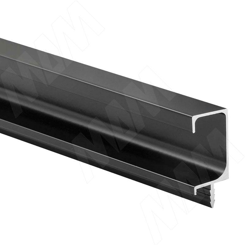 Профиль-ручка врезная для фасада 18мм, черный матовый (краска), L-3000мм (PH.RU08.3000.BLM PR) 0 pr на 100