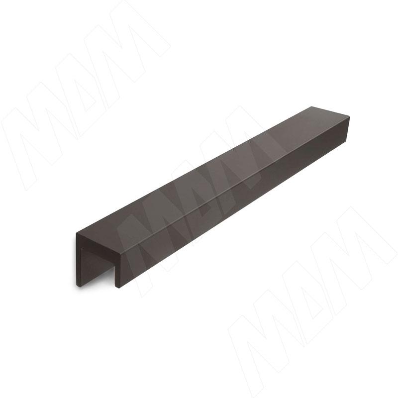 Профиль-ручка 160мм черный матовый (PH.RU11.160.BL) ручка раковина 160мм крепление саморезами черный матовый sh ru2 160 bl