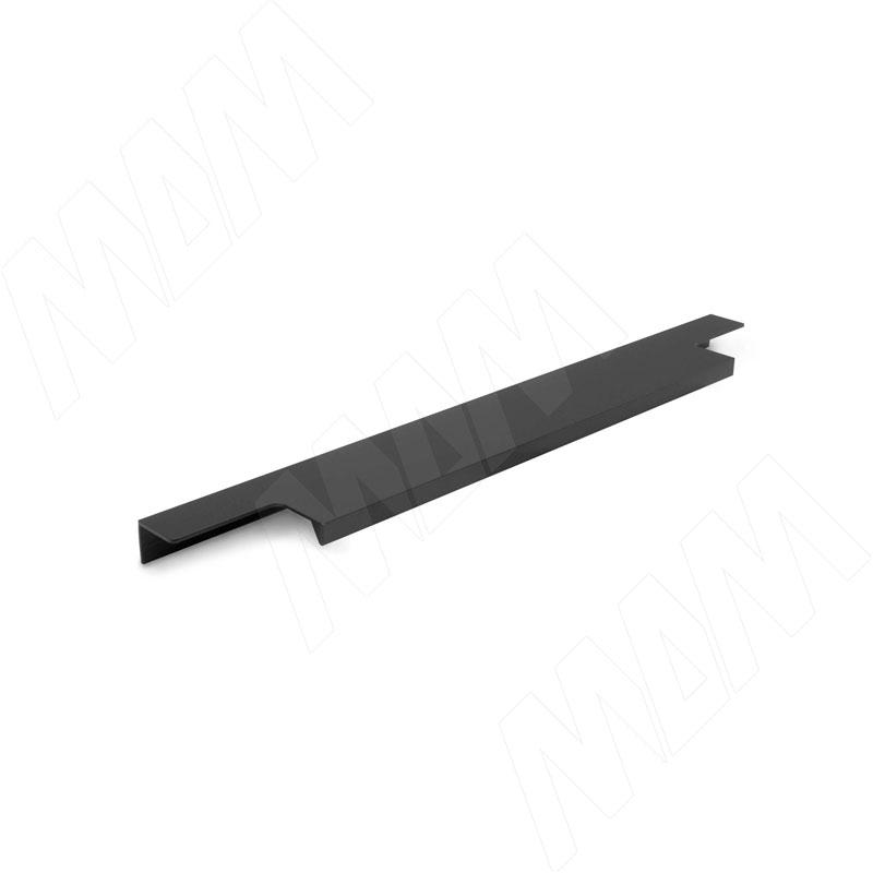Фото - Профиль-ручка 296мм крепление саморезами черный матовый (PH.RU13.300.BL) профиль ручка 200мм крепление саморезами черный матовый 27 200 7w