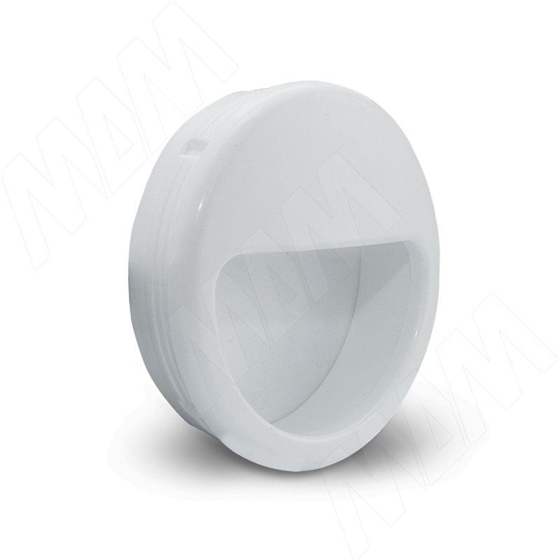 Ручка-раковина D51мм белый (SH.RU01.D51.WHT) раковина 48x48 см jaquar opal ops wht 15901n